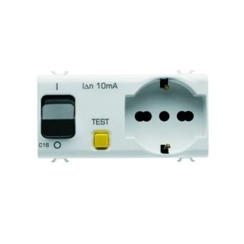 GW10322 Priza cu interblocare 1P+N 16A 4 module CH/WH - GW10322 - 8011564262492