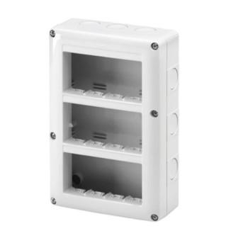 GW27024 Carcasa aparenta pentru 12 module (4x3) vertical, IP40, Gri - GW27024 - 8011564055353