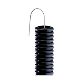 Tub flexibil negru cu fir mediu 2J D50mm L25m - DX15150 - 8018678005601