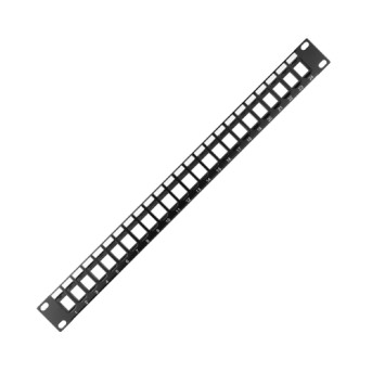 Panou rack UTP 24 porturi necablat 1U Negru - GW38537 - 8011564762817