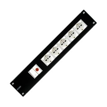 Ansamblu 5 prize 2P+T 16A 2U cu lampa indicator - GW38531 - 8011564117303