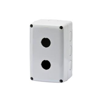 GW27102 Doza aparenta pentru 2 lampi/butoane Gri IP66 - GW27102 - 8011564055513