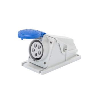 GW62489 Priza industriala fixa 90G 3P+T 32A 230V 9h Albastru IP44 - GW62489 - 8011564004788