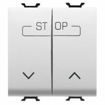 Buton pentru comanda combinata 1P ND 16A 2 module CH/WH - GW10160F - 8011564258587