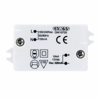 GW10720 Sursa alimentare 230V-12VDC 300mA - GW10720 - 8011564871311