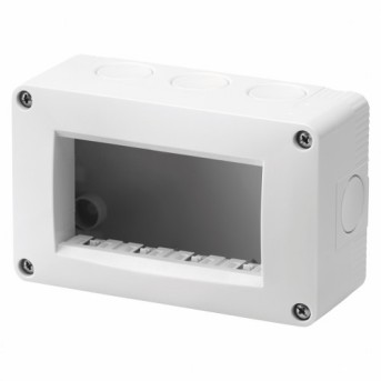 Carcasa aparenta pt. 4 module, IP40, Gri - GW16504 - 8011564279315