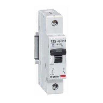 419666 RX3 Disjunctor 1P C25 4500A Monoconnect - 419666 - 3245064196666