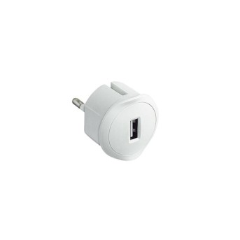 050680 Incarcator USB, pentru priza, 5V 1.5A, Alb - 050680 - 3414970010575