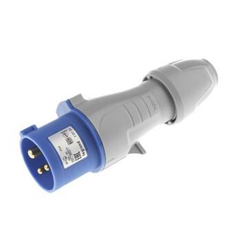 Fisa industriala 2P+T 32A 230V, Albastru, IP44 - 555234 - 3245065552348