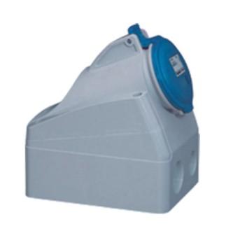 Priza industriala fixa 2P+T 32A 230V, Albastru, IP44 - 555254 - 3245065552546