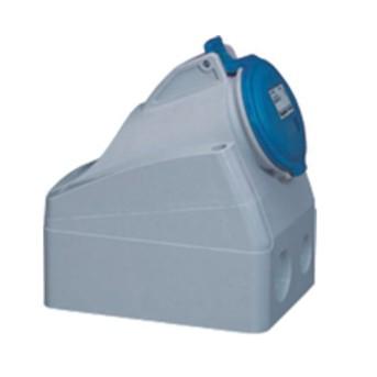 Priza aparenta 16A 2P+T 230V, Albastru, IP44 - 555154 - 3245065551549