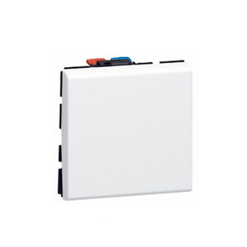 Buton Simplu, 2 Module, Alb - 077040 - 3245060770402