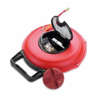 Rola sonda tragere 30m cu cap de ghidare flexibil si accesorii - 142040 - 4021103420409
