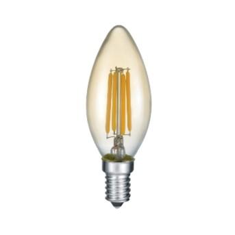 Bec LED Sursa Filament forma lumanare B35 Auriu(Gold) 4-27W 2700K (280lm) E14 - 989-479 - 4017807287523