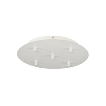 132621 Fitu placa tavan pentru 5 cabluri suspendare Alb - 132621 - 4024163156882
