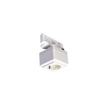 1001525 Eutrac Adaptor pentru sina cu priza schuko Alb - 1001525 - 4024163200097
