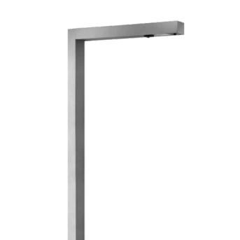 PAFD.910.050 Stalp aluminiu Domino 5m rectangular cu flansa - PAFD.910.050