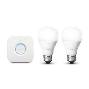 Kit Philips HUE Starter Kit 2 becuri 9W E27 si Consola - 929001821601 - 8718696785218