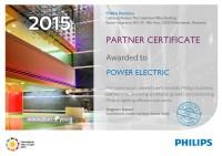 Certificat Philips Partner 2015
