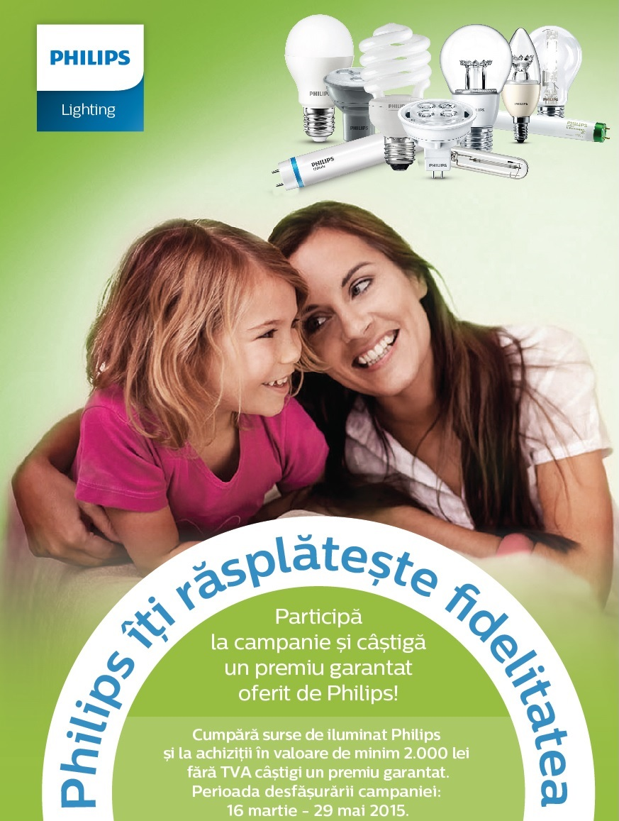 Philips iti rasplateste fidelitatea - energie pe viata - campanie Philips
