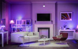 Interior luminat cu Philips Hue