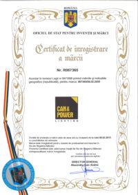 CAN&POWER Certificat înregistrare marcă