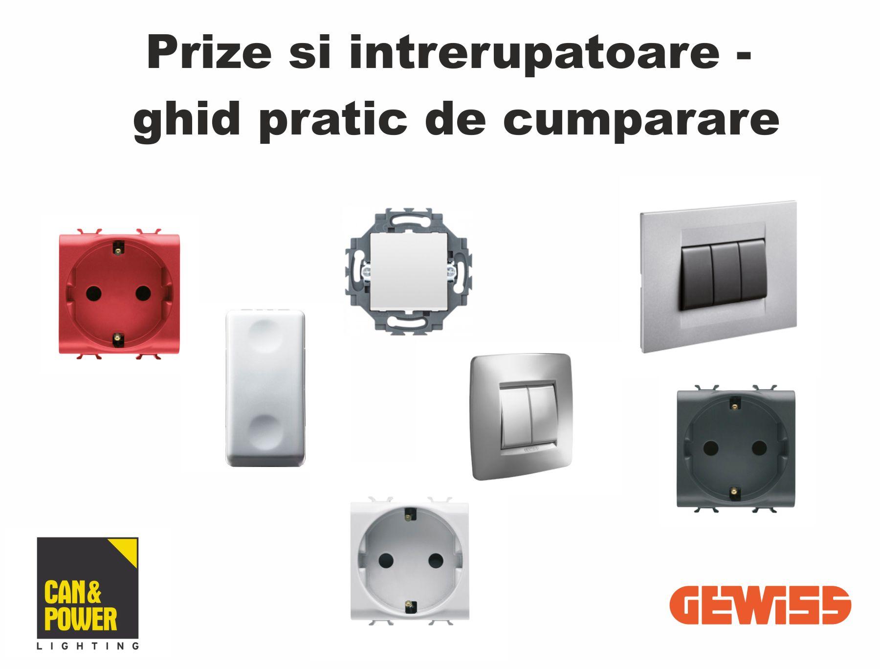 Prize si Intrerupatoare - ghid pratic de cumparare Gewiss