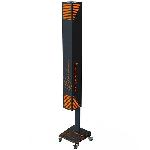 Lampa UV pentru dezinfectie aer cu picior mobil pe role