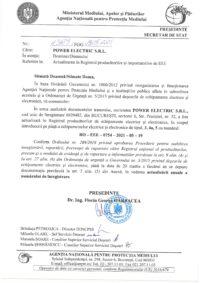 Formular de înscriere în Registrul de punere pe piaţă a echipamentelor electrice și electronice